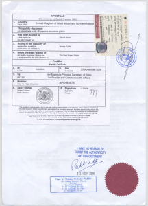 Picture of fully attested document