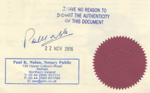 Picture of Notary Public stamp